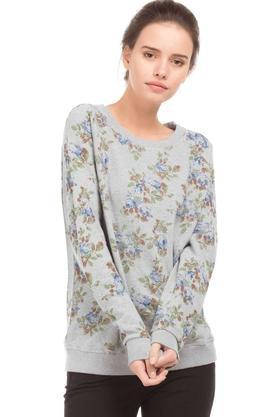U.S. POLO ASSN.Womens Round Neck Printed Sweatshirt
