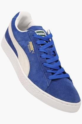 PUMA Mens Suede Lace Up Sneakers