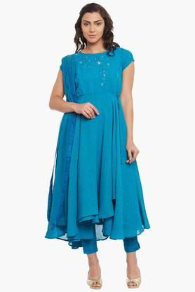 BIBA Womens Poly Cotton Anarkali Suit
