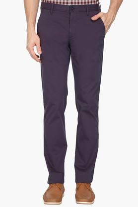 LOUIS PHILIPPE SPORTS Mens 4 Pocket Solid Chinos - 203032889