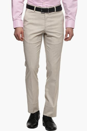Mens 4 Pocket Textured Formal Trousers