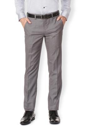 VDOTMens 4 Pocket Skinny Fit Slub Formal Trousers