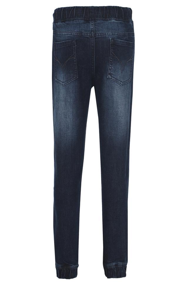 Boys 5 Pocket Whiskered Effect Jogger Jeans