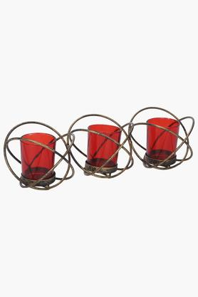 IVY Round Candle Votive With Antique Stand Set Of 3 - 203975301_9607