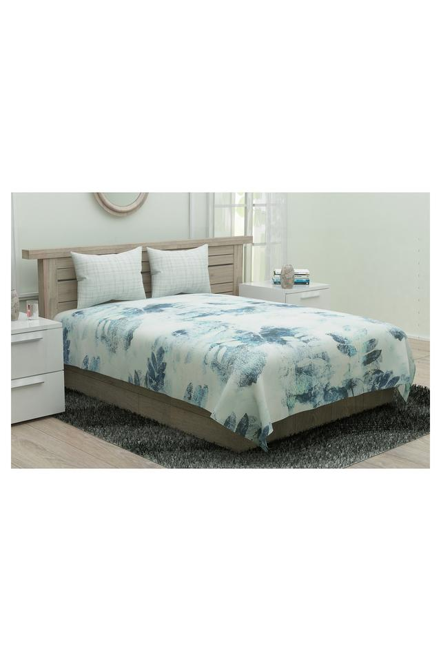 Prime Collection Printed Single Bed Sheet with 1 Pillow Cover