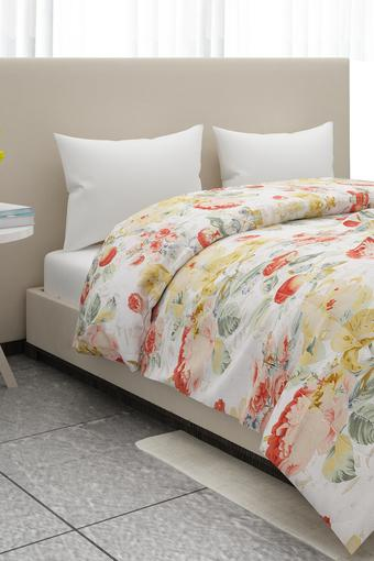 Floral Print Single Bed Cover