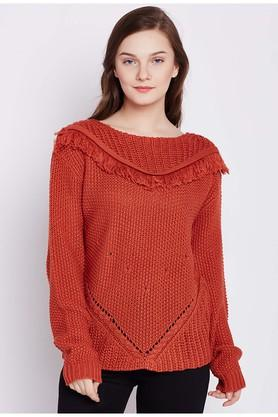 COVER STORY Womens Round Neck Knitted Sweater