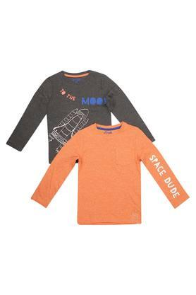 Boys Round Neck Printed Tee - Pack of 2