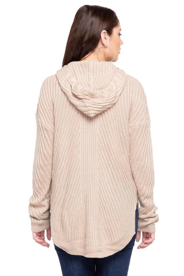 Womens Hooded Neck Knitted Sweater