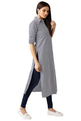 Womens Striped Kurta