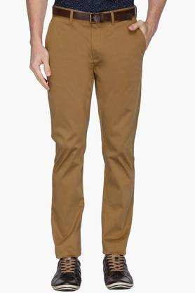 BLACKBERRYS Mens Slim Fit 4 Pocket Solid Chinos