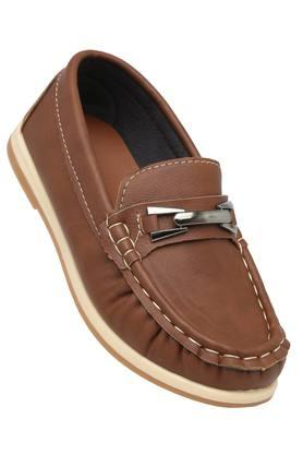 Boys Synthetic Leather Slipon Loafers