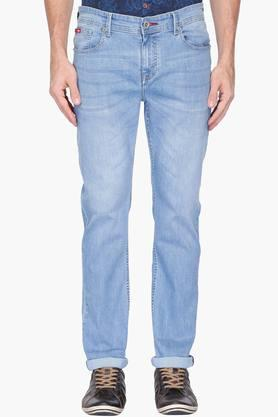 LEE COOPER Mens Straight Fit Heavy Wash Jeans