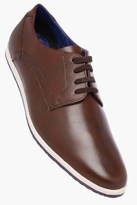 VENTURINI Mens Leather Lace Up Casual Shoes - 203017991