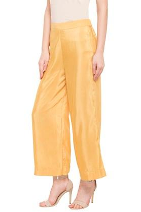 Womens Solid Casual Palazzos