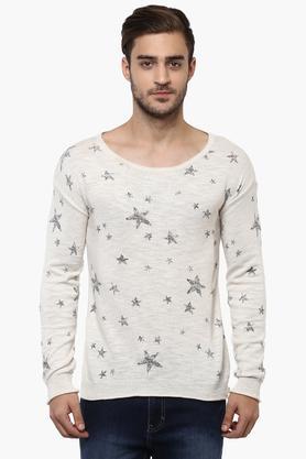 AEROPOSTALEMens Round Neck Printed Sweater
