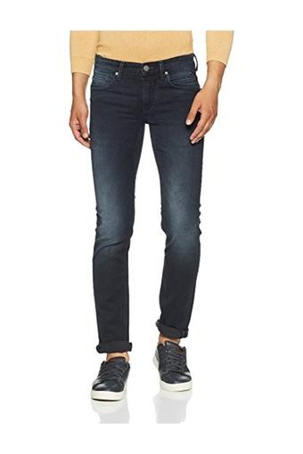 Mens 5 Pocket Slim Fit Mild Wash Jeans