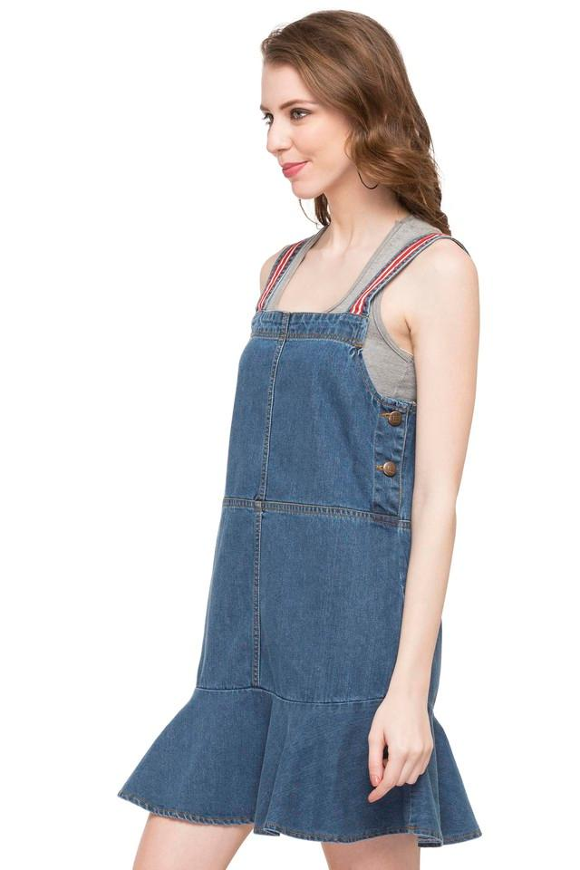 Womens Square Neck Assorted Pinafore Dress