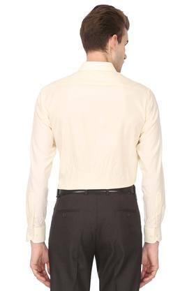 Mens Classic Fit Self Printed Formal Shirt