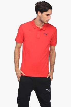 PUMAMens Solid Polo T-Shirt