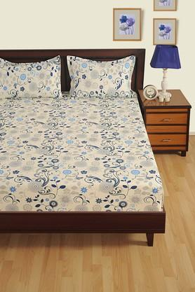 SWAYAMPrinted Double Fitted Bed Sheet With 2 Pillow Covers - 204274704_9308