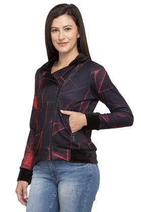 Womens Printed Casual Jacket