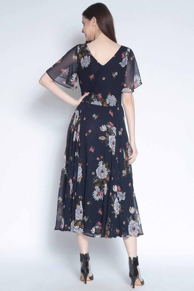 e995bb9a061eb Buy RARE Womens Floral Print Flared Dress | Shoppers Stop