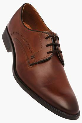 VENTURINI Mens Leather Lace Up Derbys - 203017960