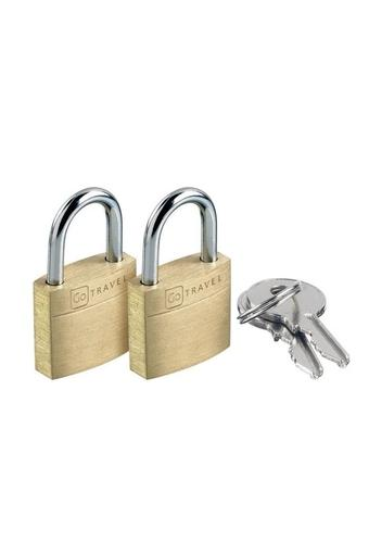 Unisex Metallic Key Lock - Pack of 2