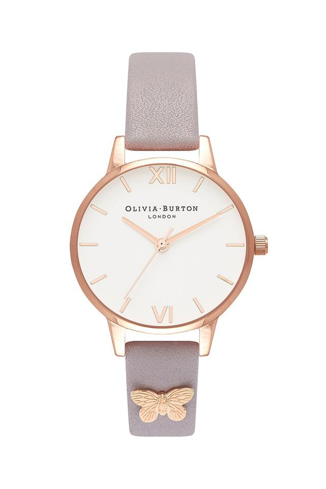 Womens White Dial Leather Analogue Watch - OB16MDW39W