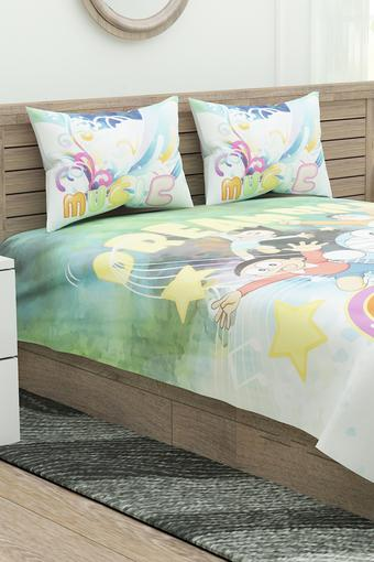 Doraemon Printed Single Bedsheet with Pillow Covers