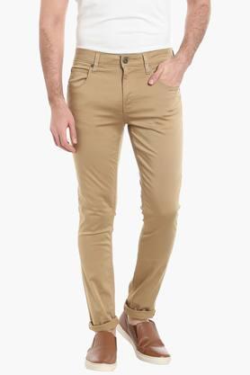 JACK AND JONESMens 5 Pocket Slim Fit Solid Chinos