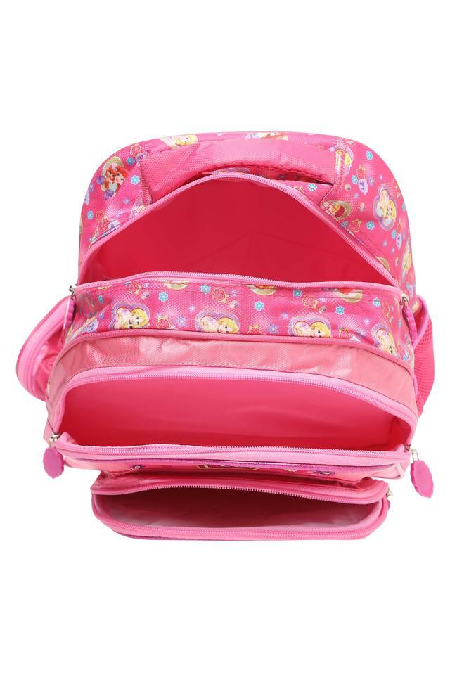 Girls Disney Princess 3 Compartment Zip Closure School Bag