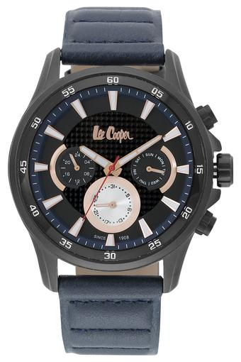 Mens Chronograph Black Dial Leather Watch - LC06540659