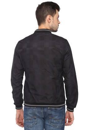Mens Mao Collar Printed Reversible Jacket