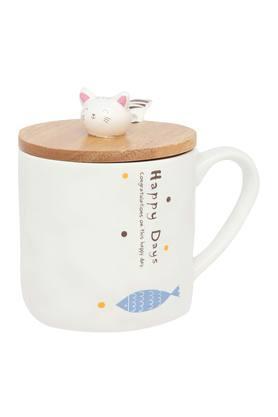 IVYCat Print Mug With Lid And Spoon