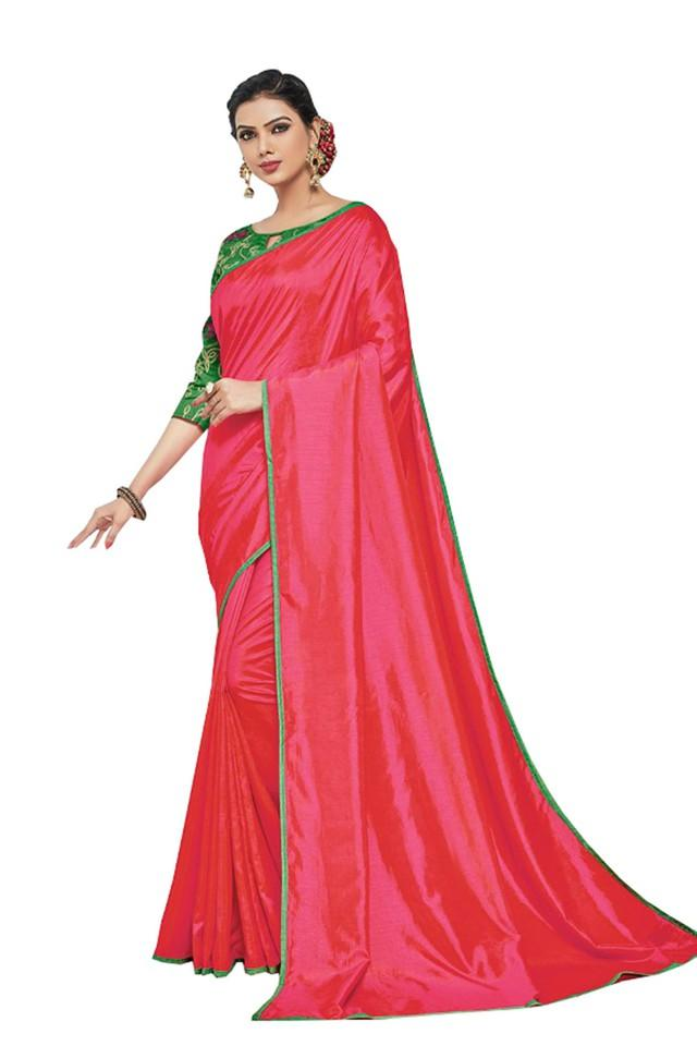 Womens Solid Saree