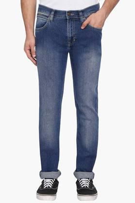 LEE Mens Skinny Fit Heavy Wash Jeans (Bruce Fit) - 202985578