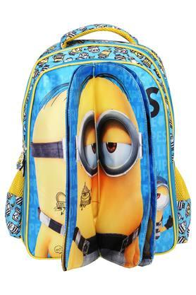Kids Min Blue and Yellow Flap School Bag