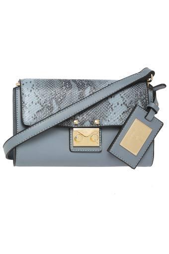 46a1e190c155e0 Buy ALLEN SOLLY Womens Metallic Lock Closure Sling Bag | Shoppers Stop