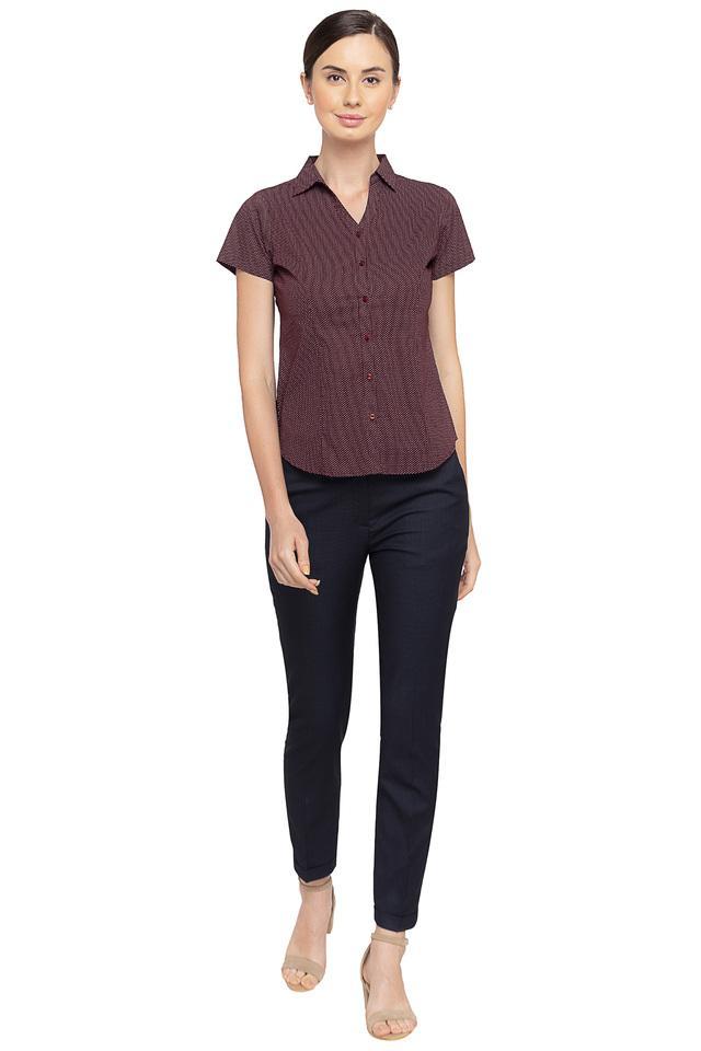 Womens Dot Pattern Formal Shirt
