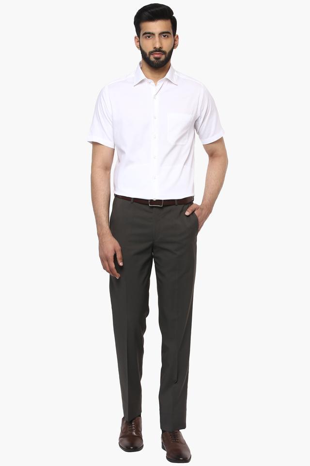 Mens Regular Fit Solid Shirt