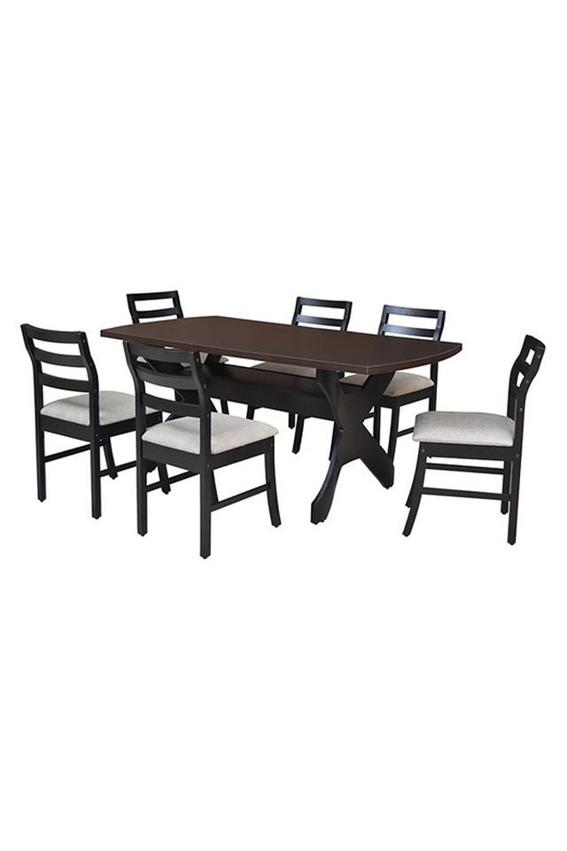 Brown Finn 6 Seater Dining Set