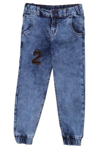 Boys Slim Fit Heavy Wash Jogger Jeans