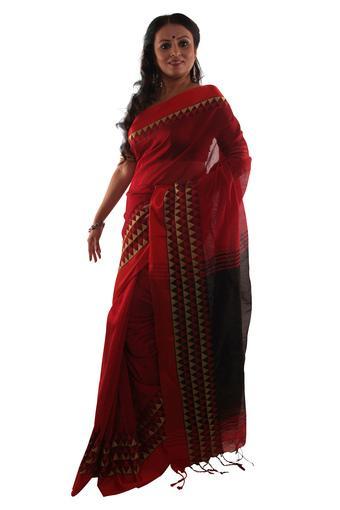 Women Zari Border Saree