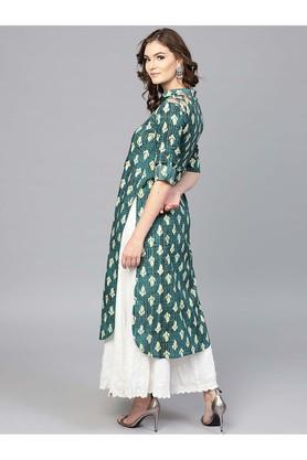 Women Cotton Printed Pathani Kurta