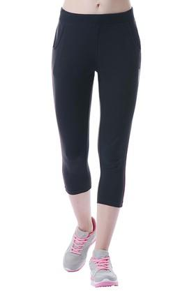 Womens 2 Pocket Solid Capris