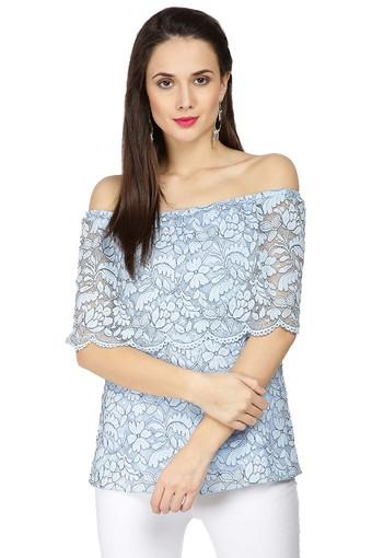 Womens Off Shoulder Lace Top