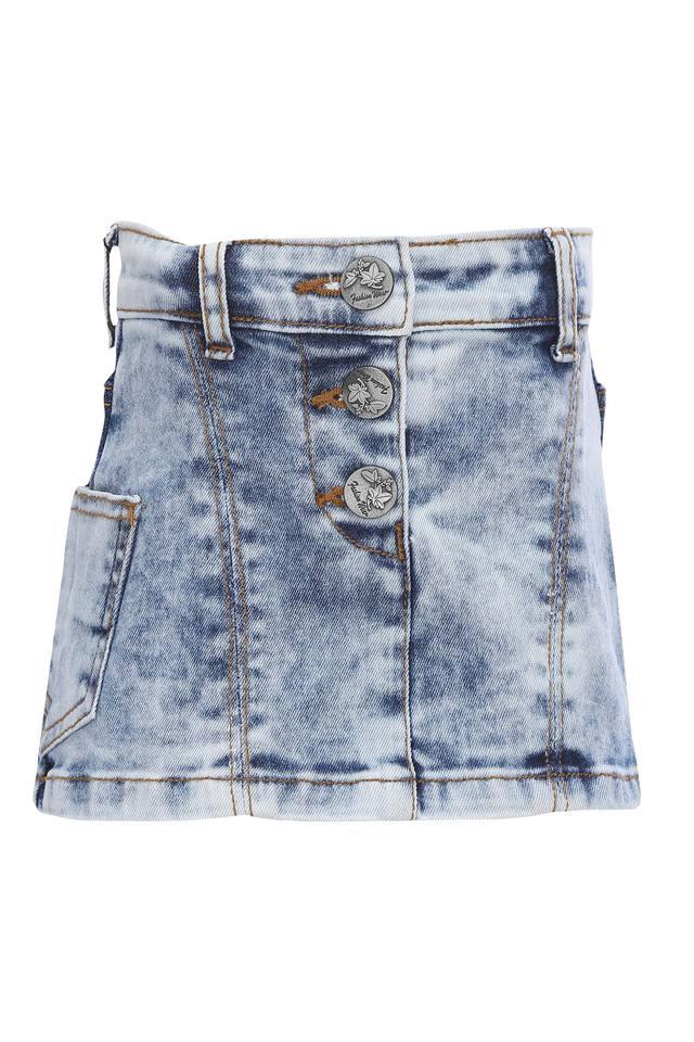 Girls Heavy Wash Skirt