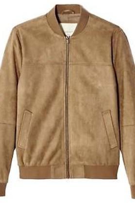 Mens Mao Collar Slub Jacket